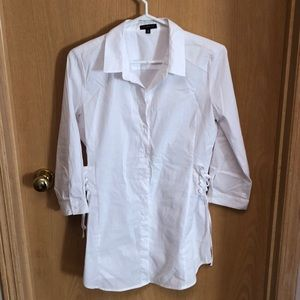 Women's white tunic blouse